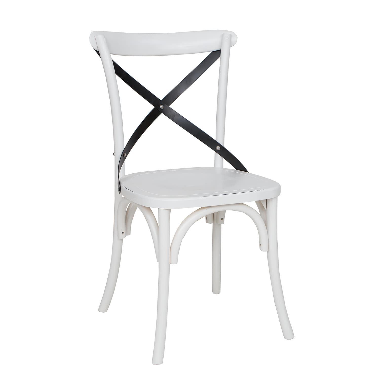 WYPRZEDAŻ - DOSTĘPNE OD RĘKI Białe krzesła drewniane LARS