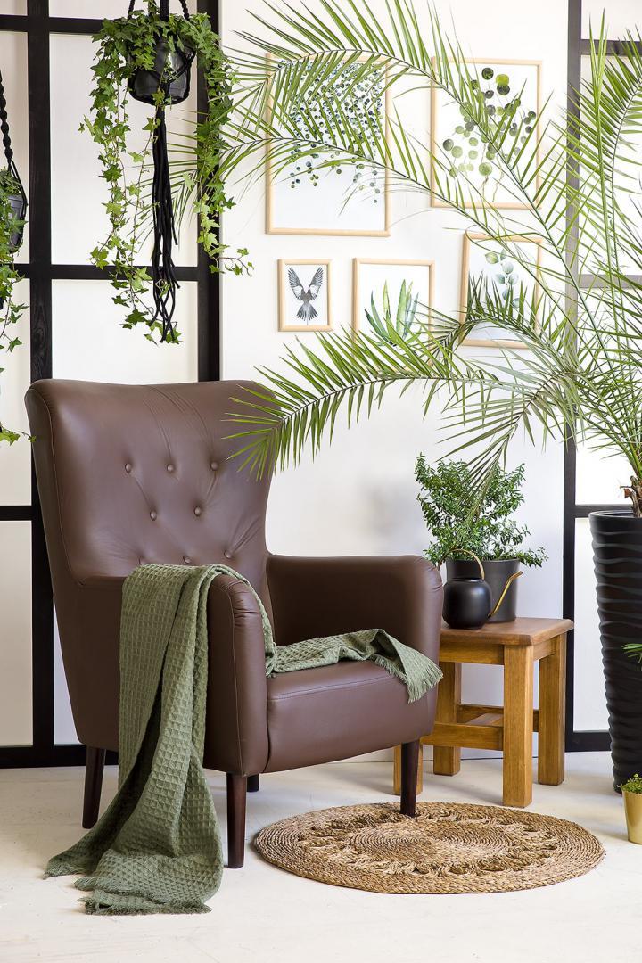 Fotel skórzany do pokoju BERGAMO - WYPRZEDAŻ