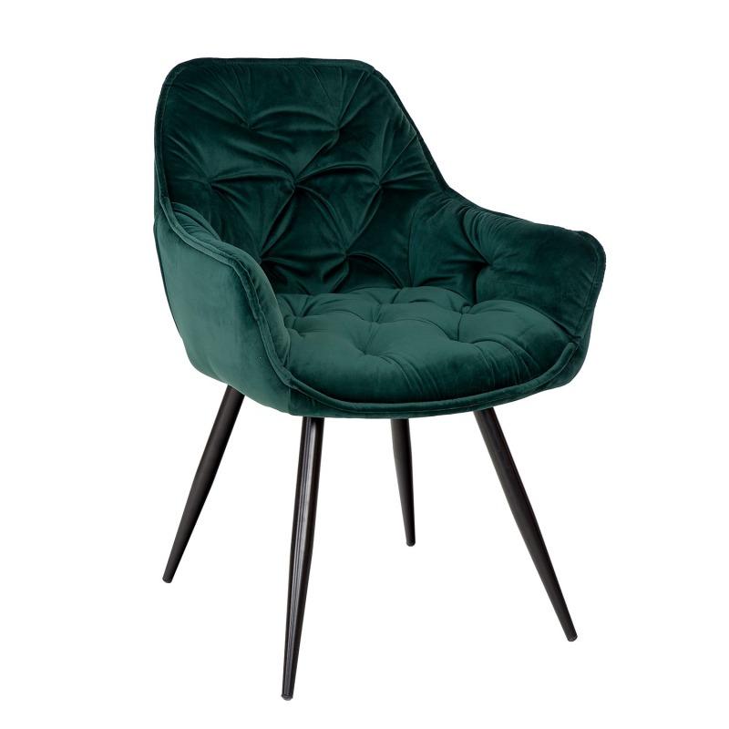 WYPRZEDAŻ - DOSTĘPNE OD RĘKI Tapicerowane krzesło CHERRY VELVET BL78