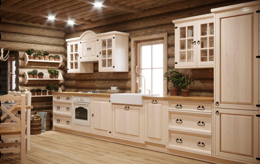 meble drewniane do kuchni w stylu rustykalnym