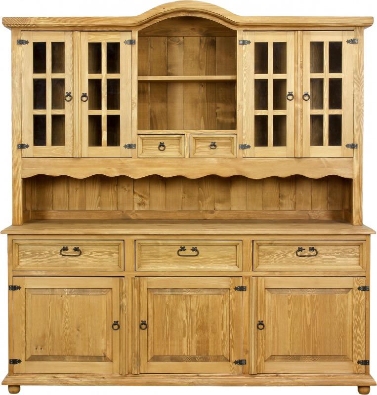 Rustykalny kredens drewniany VIT102 SLIM