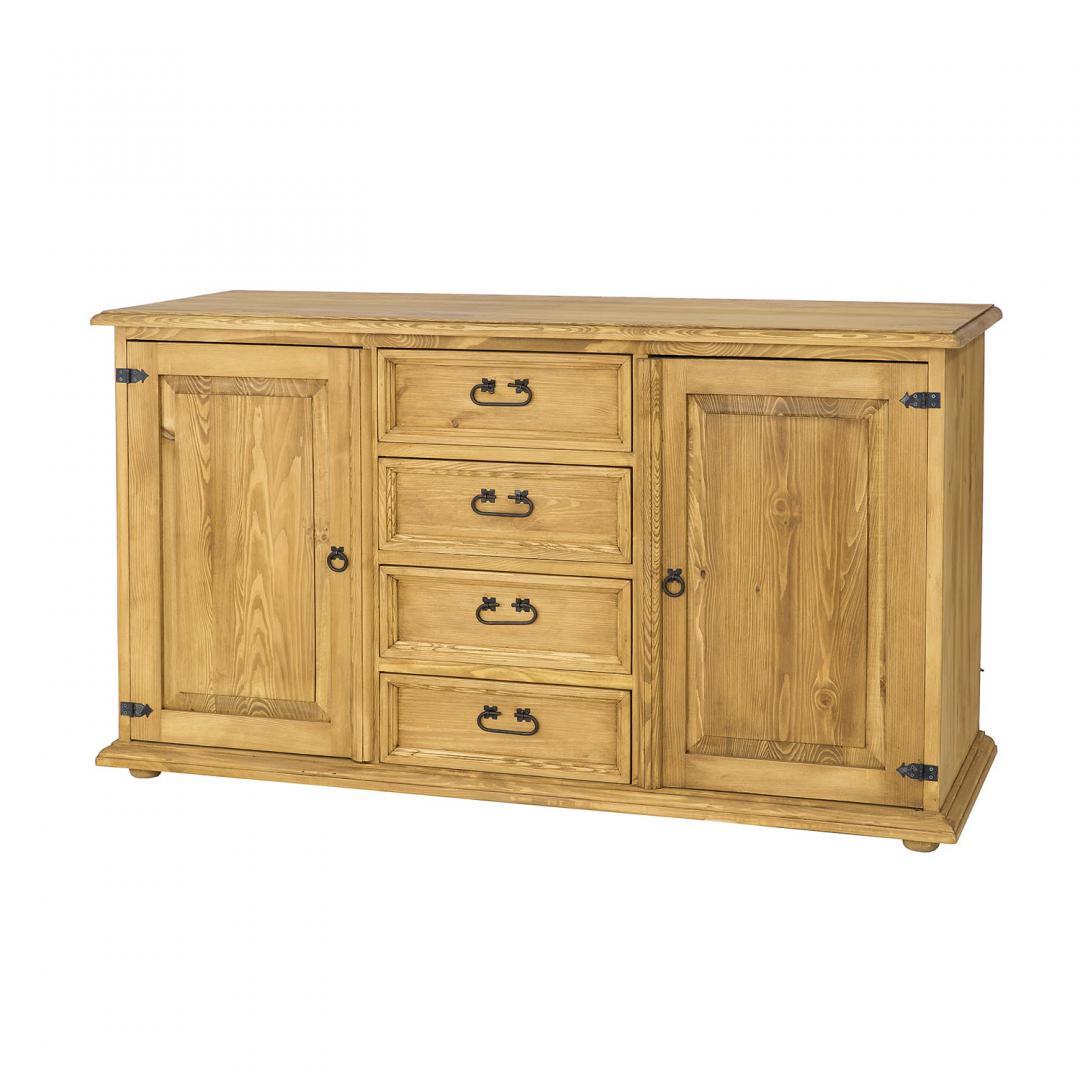 Duża komoda drewniana COM121 SLIM