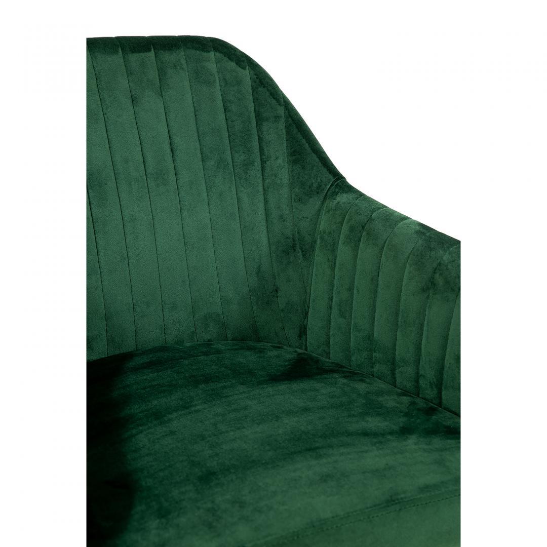 tapicerowane krzeslo zielone