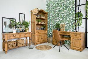 meble biurowe z litego drewna woskowanego