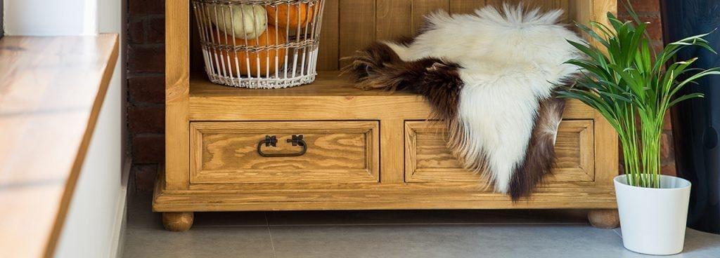 drewniana konsola jasny wosk
