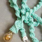 zielona lama sznur kinkiet