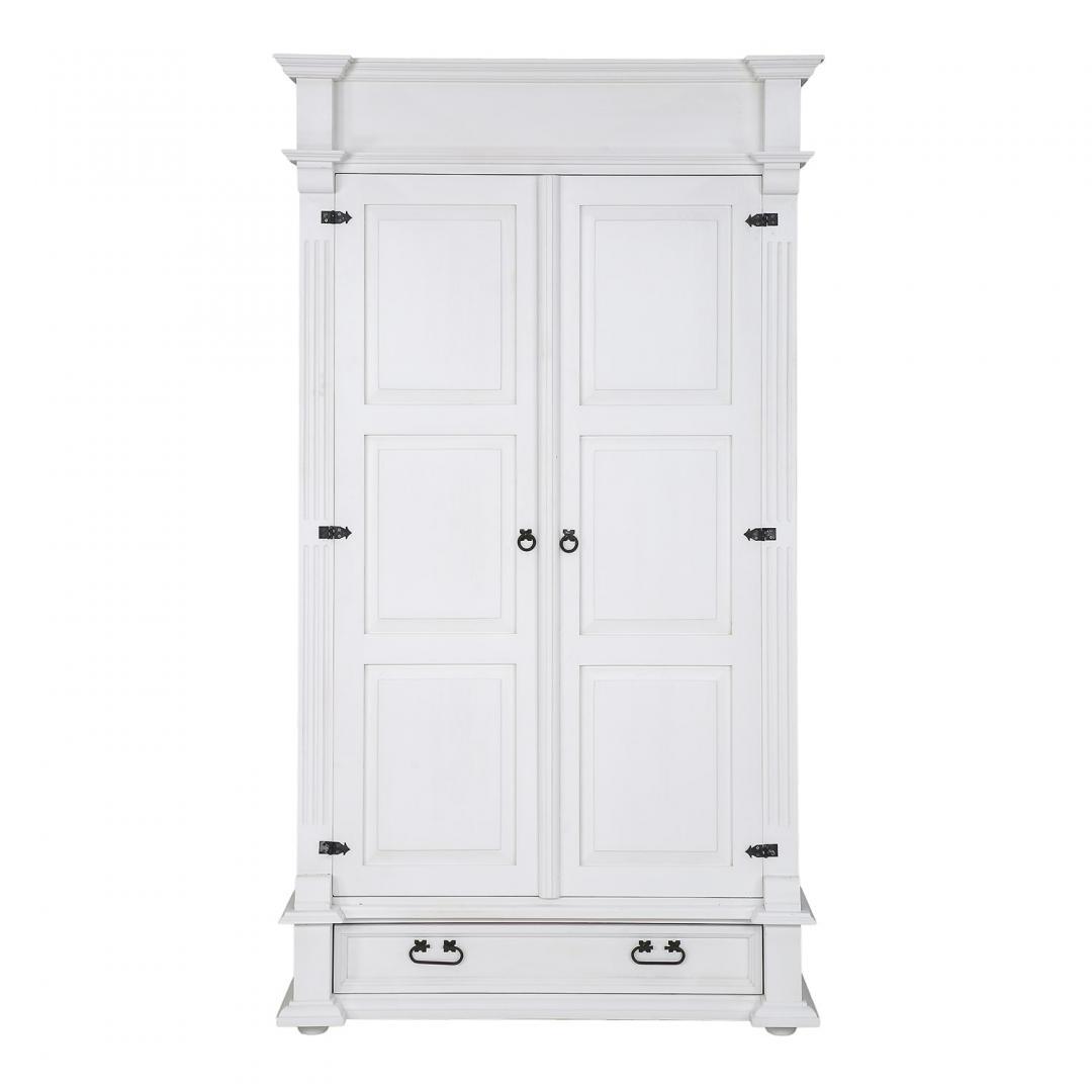Biała szafa z rzeźbieniami SZY04/A