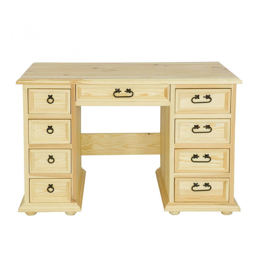biurko z litego drewna woskowane
