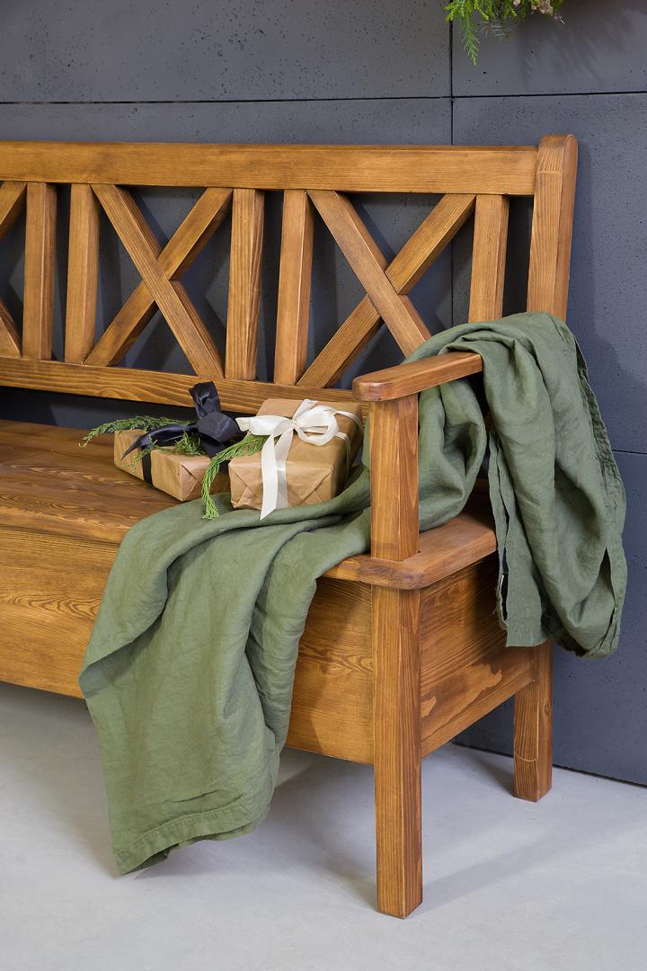 kuchenna lawka drewniana woskowana