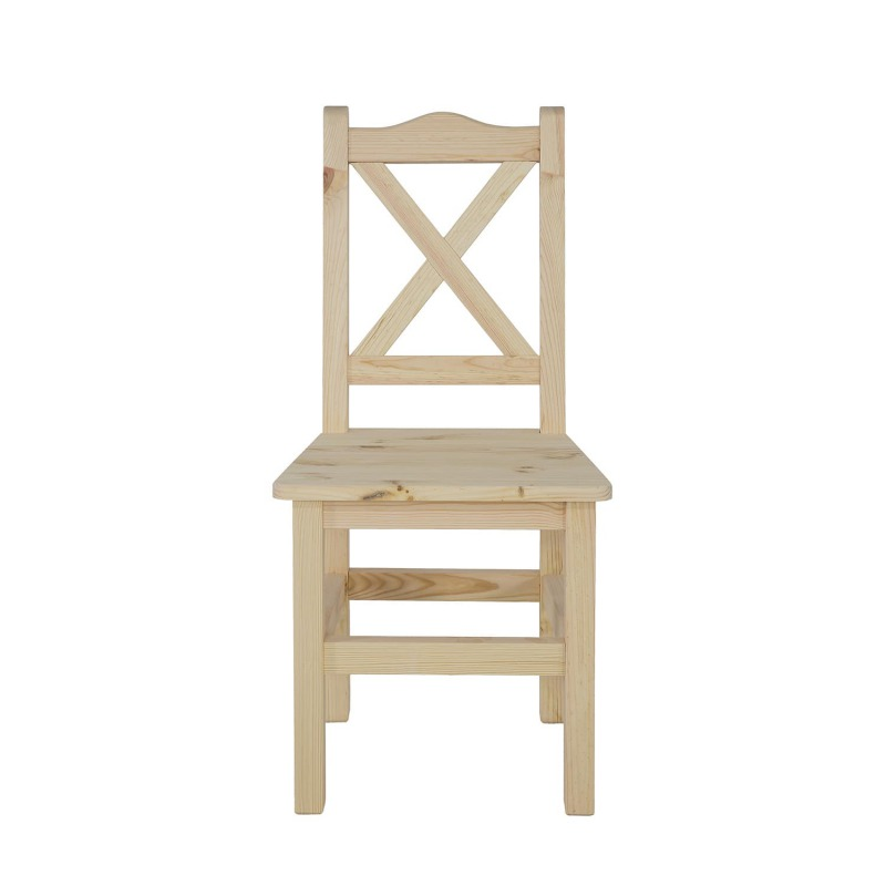 krzeslo sosnowe woskowane