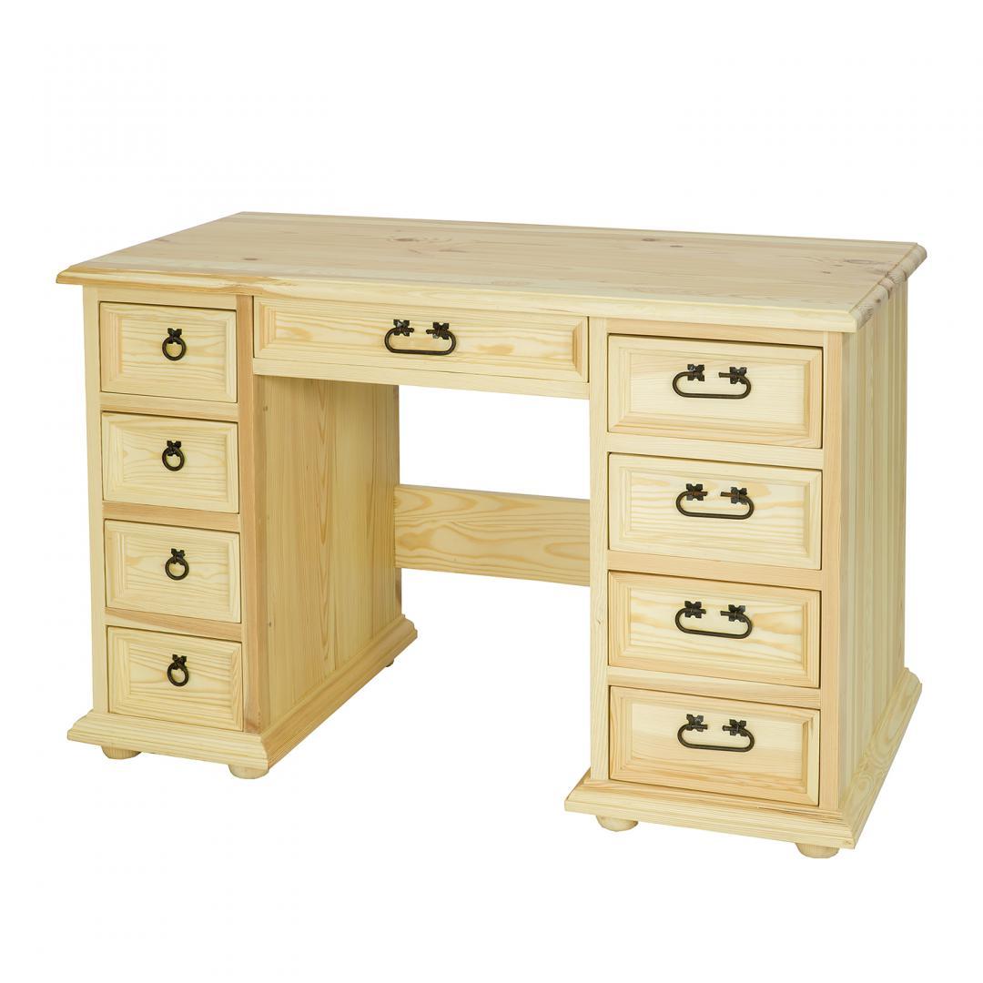 Rustykalne biurko sosnowe BIK04