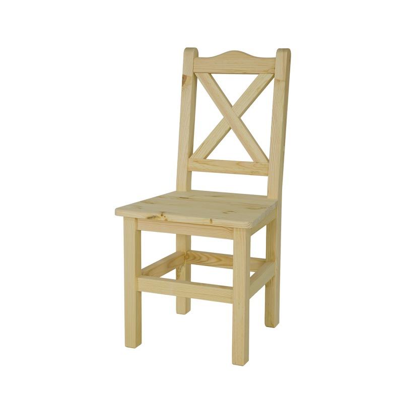 Krzesło sosnowe woskowane SIL02