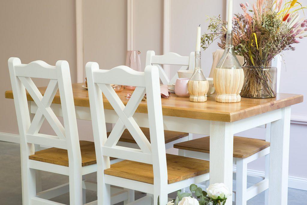 krzesła drewniane do jadalni sosnowe