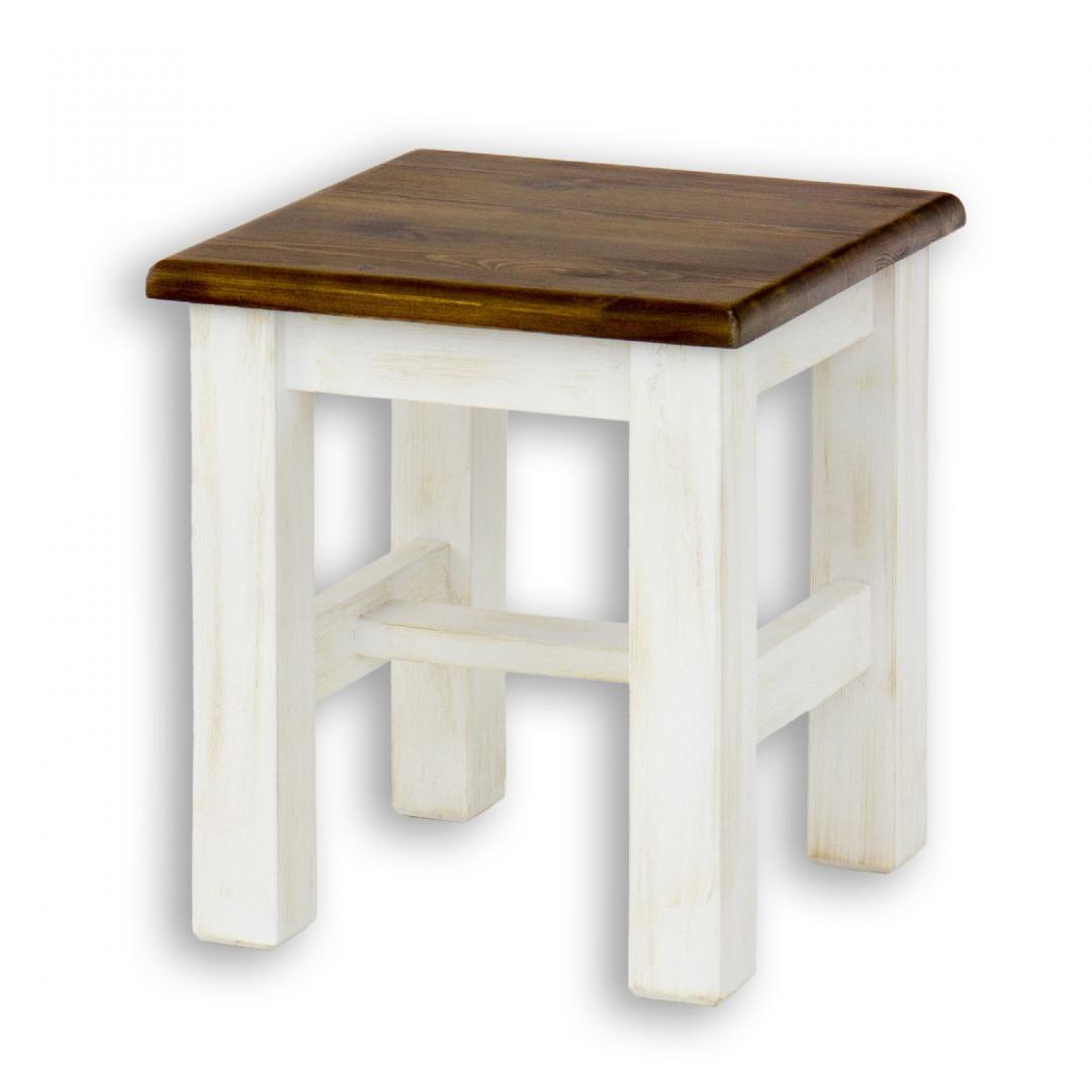 Drewniany taboret sosnowy SIL21