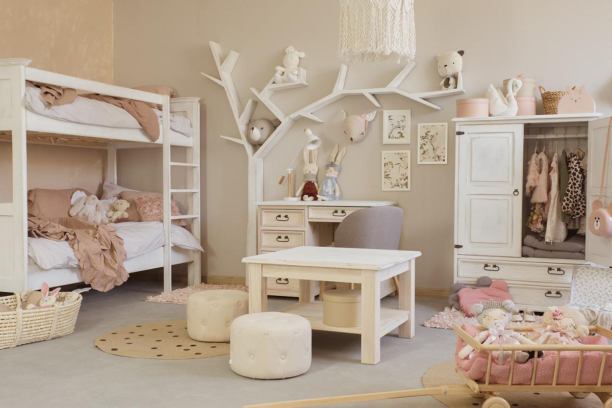łóżko piętowe drewniane