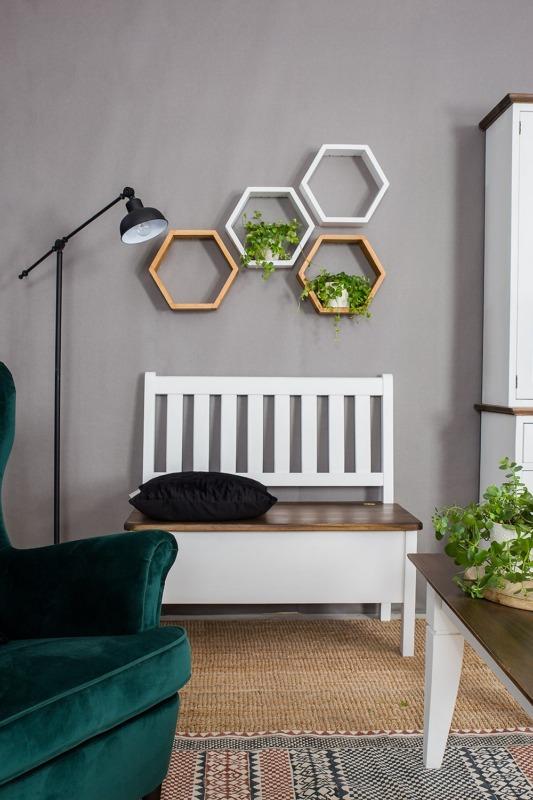 skandynawska ławka ze skrzynią