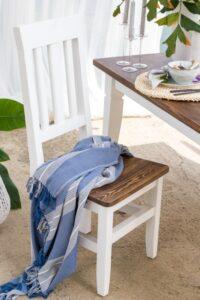 woskowane krzesło skandynawskie kuchenne