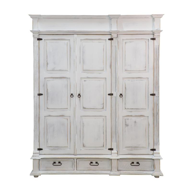 biale szafy drewniane do sypialni