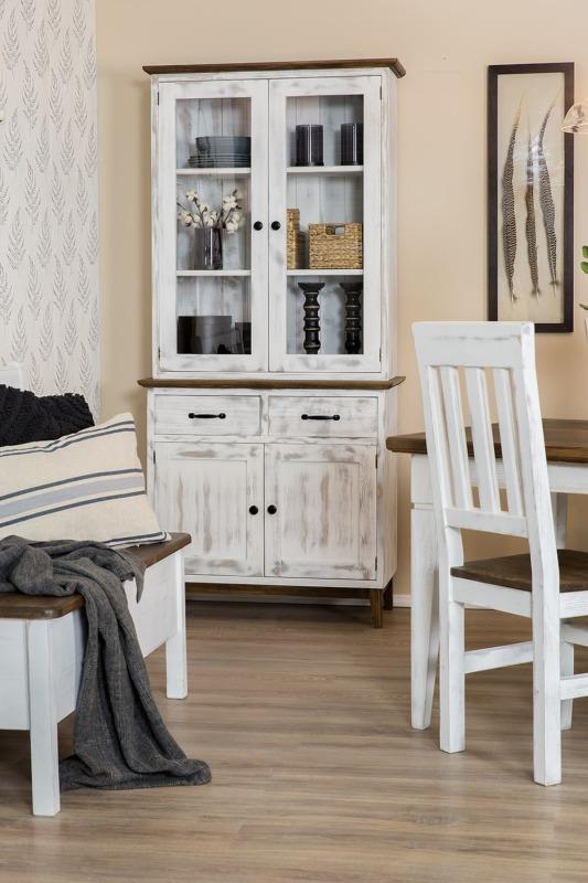 biały kredens drewniany do jadanni