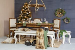 tapicerowane krzesło sosnowe do jadalni
