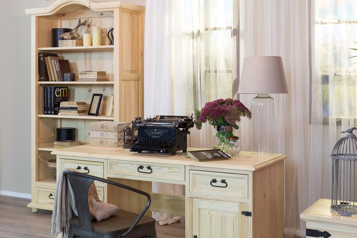 drewniane meble sosnowe do biura