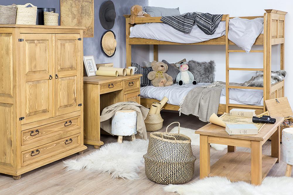 drewniane meble dla dzieci w stylu rustykalnym