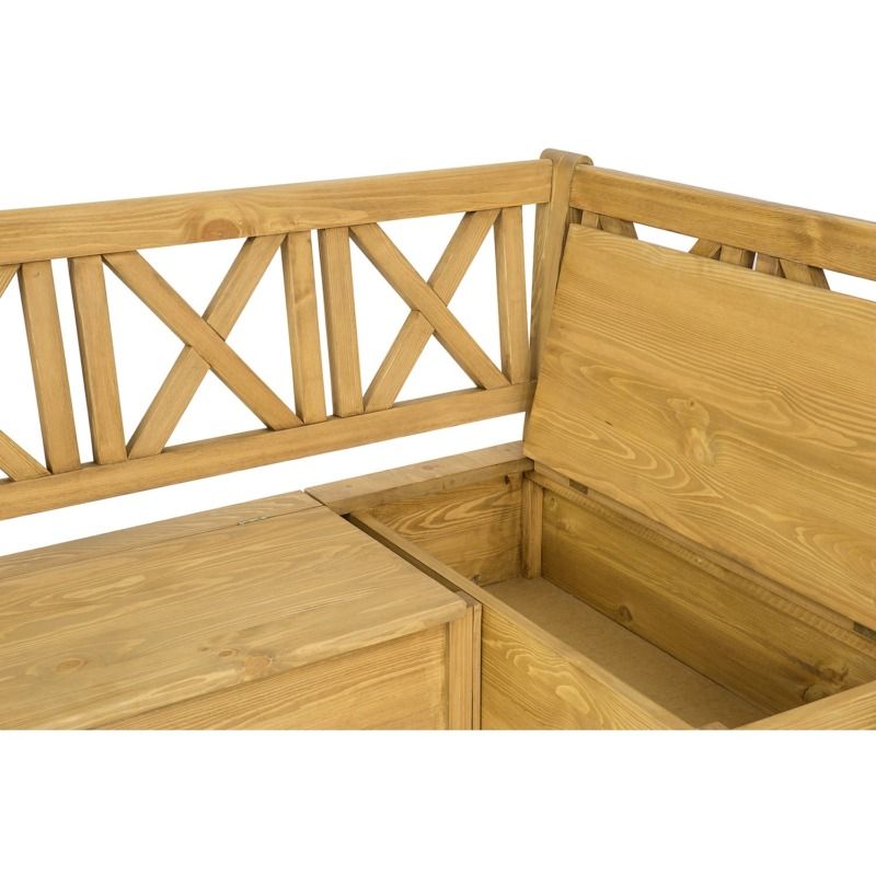 ławka narożna ze schowkiem woskowana