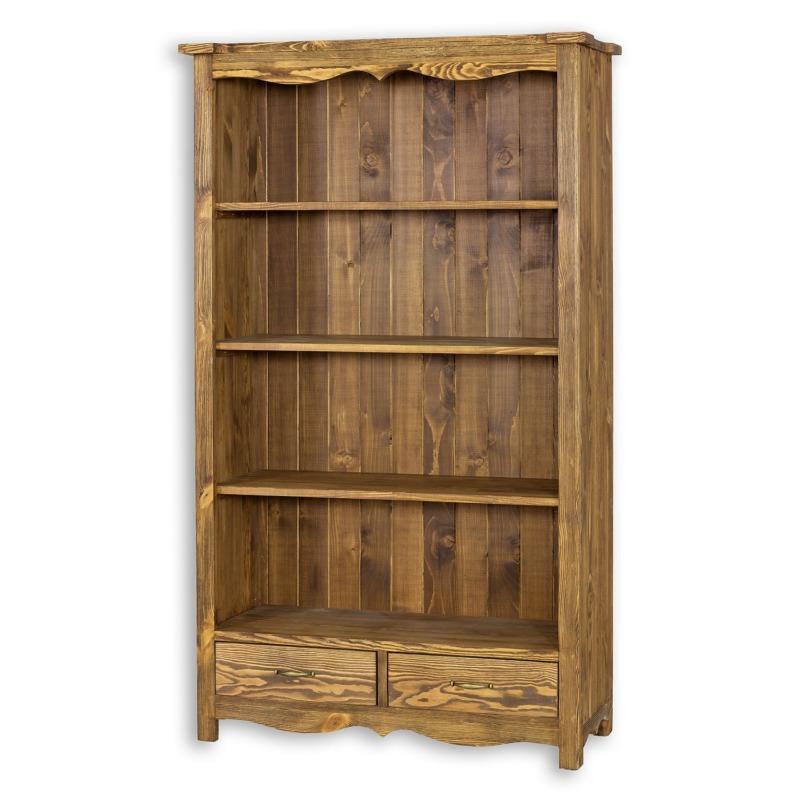Regał drewniany na książki LUD12