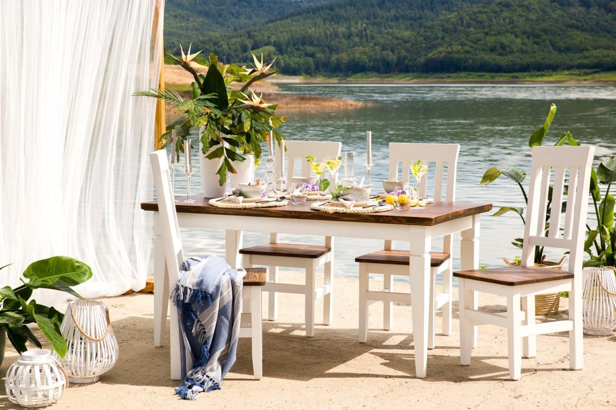 krzesła drewniane skandynawskie do jadalni