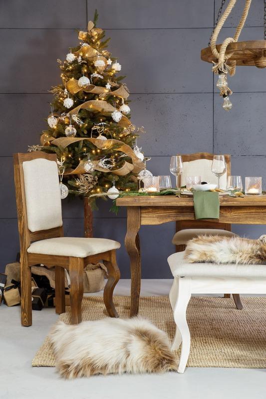 tapicerowane krzesło do jadalni