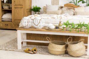 sosnowa ławka drewniana