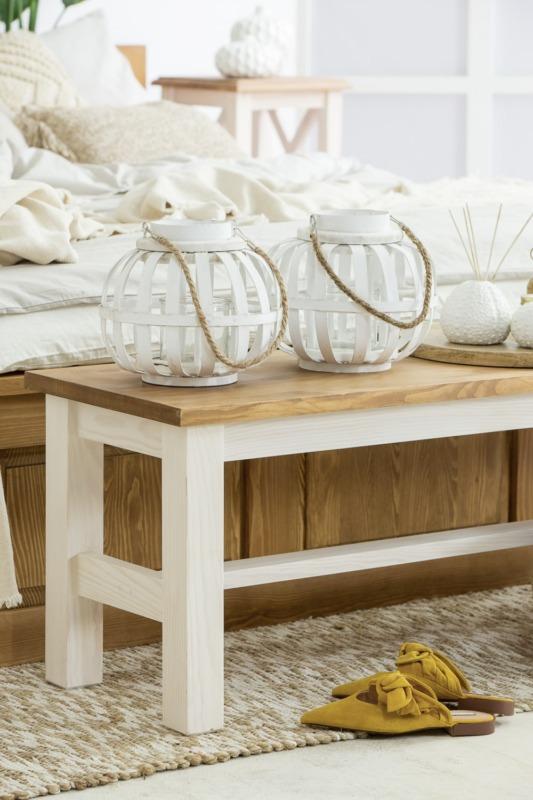 ława kuchenna z drewna
