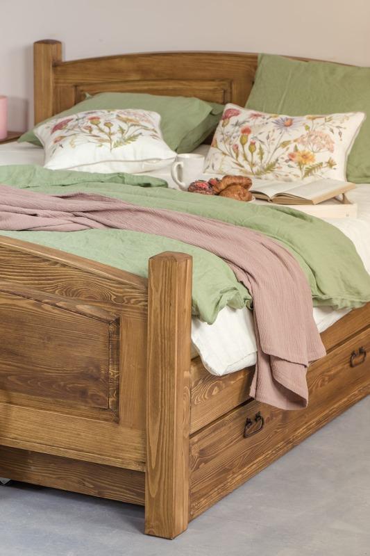 łóżo malżenskie sosnowe z zagłówkiem