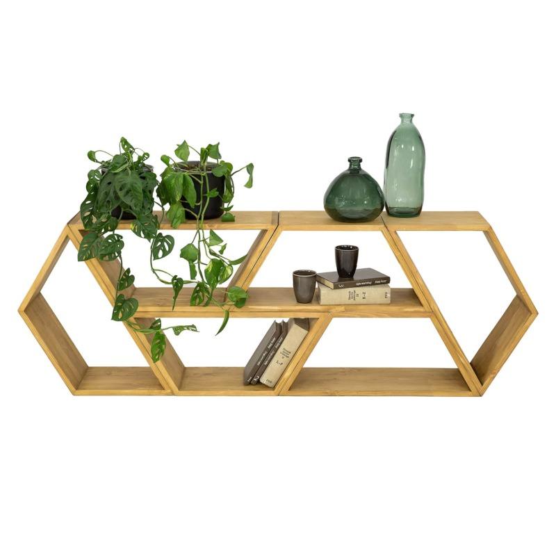 półka ścienna drewniana