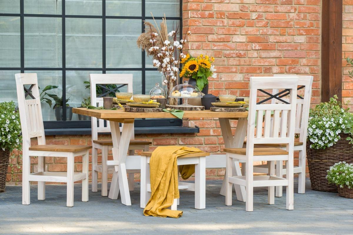 komplet stół z krzesłami
