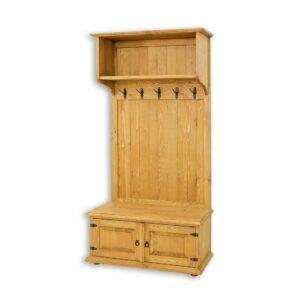 drewniana garderoba z szafką na buty