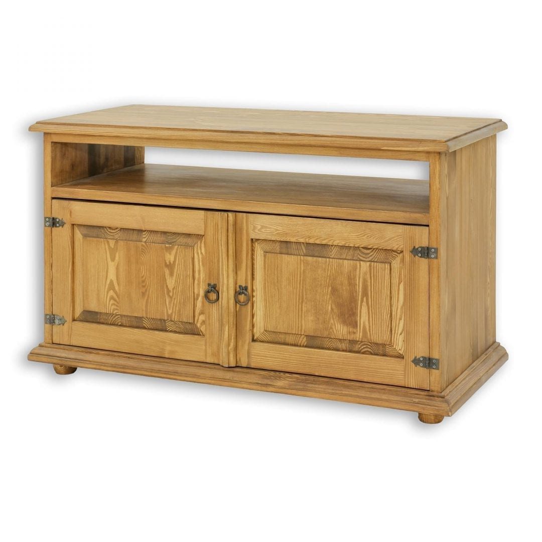 Drewniana szafka rtv woskowana RTV02
