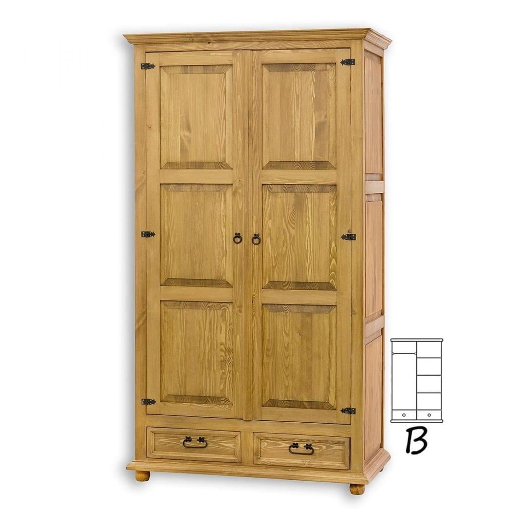 Drewniana szafa woskowana SZY01/B