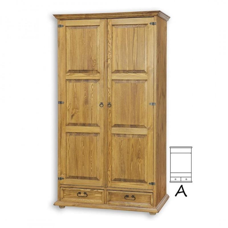 Drewniana szafa dwudrzwiowa SZY101/A SLIM