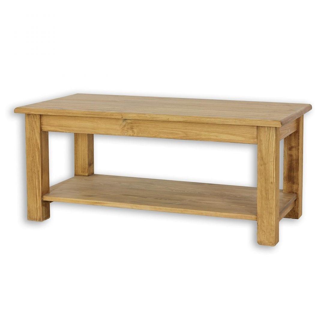 Drewniana ława z półką MES14