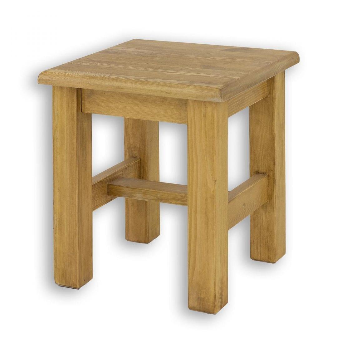Drewniany taboret SIL21