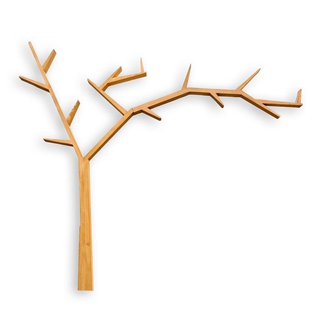 Drewniana półka drzewo COS17 /PRAWA