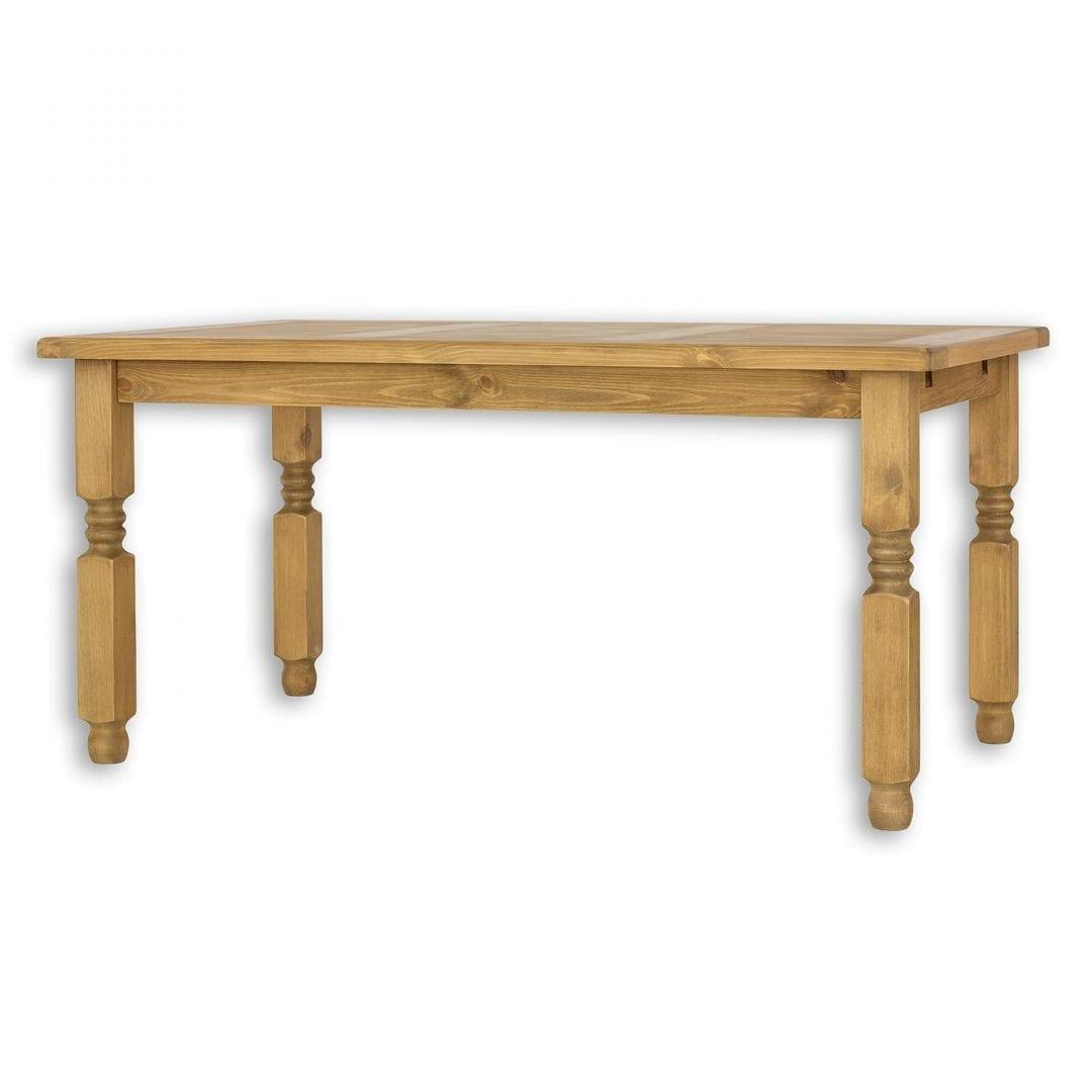 Rustykalny stół z litego drewna MES01
