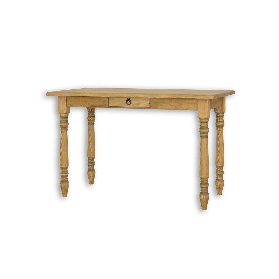 Rustykalny stolik z szufladką MES04