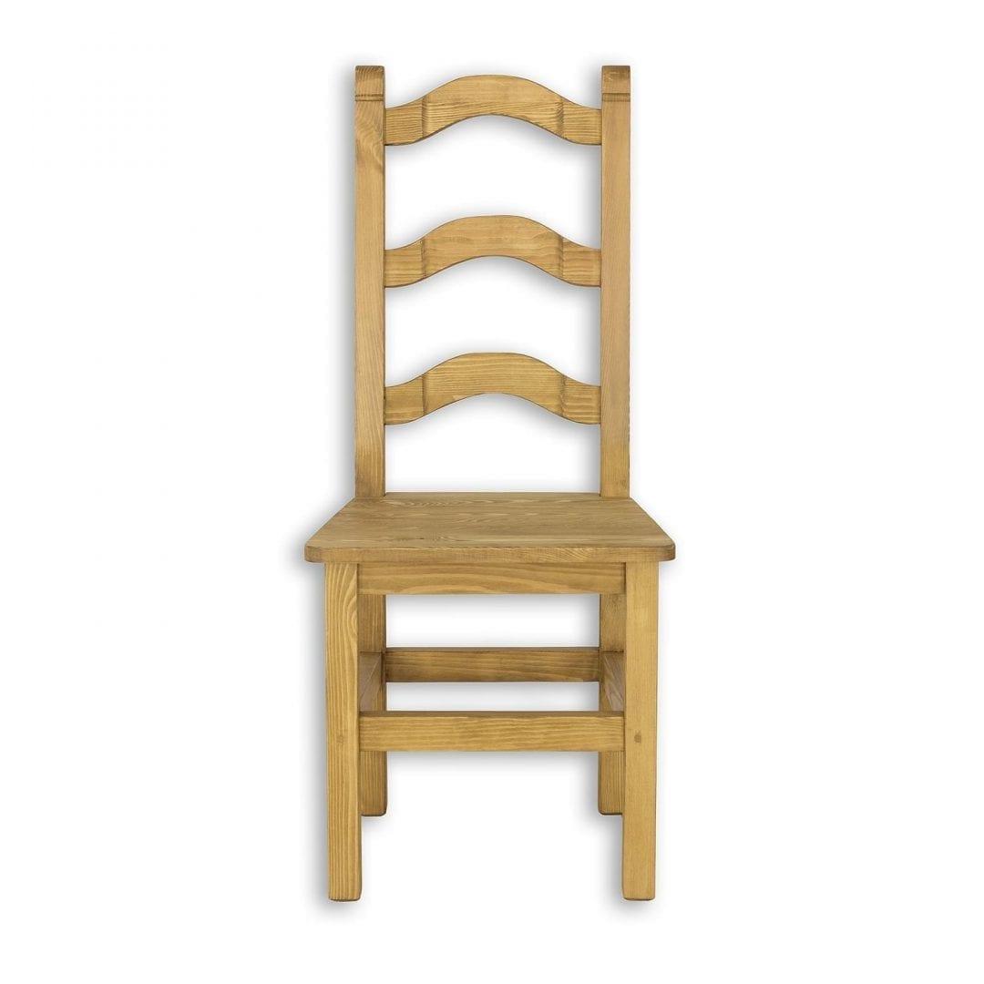 krzesło kuchenne z ozdobym oparciem