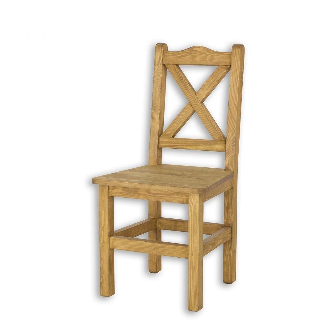 Drewniane krzesło krzyżyk SIL02