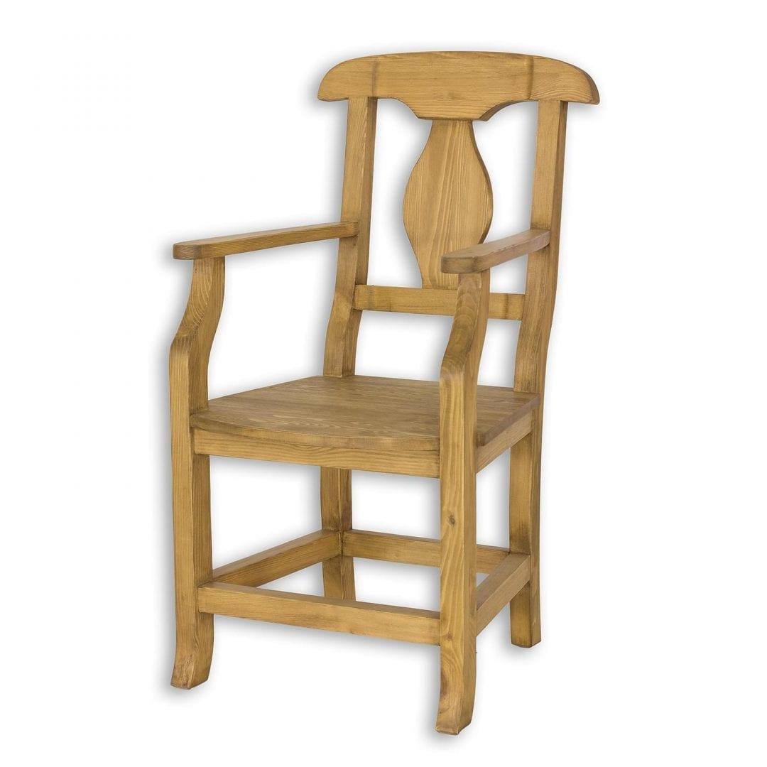 Drewniany fotel sosnowy SIL11