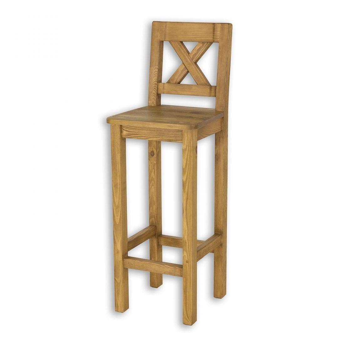 Drewniane krzesło barowe SIL23