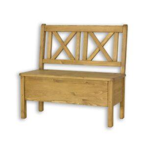 drewniana ławka z oparciem do kuchni