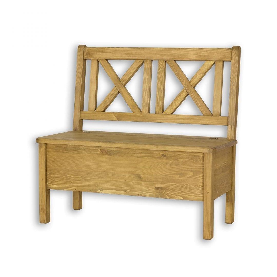 Drewniana ławka z oparciem SIL13/A